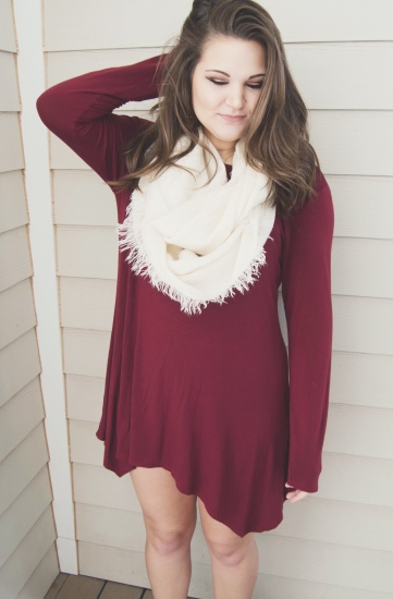 Valentine's Day Outfit Inspiration - red dress, piko dress, simple
