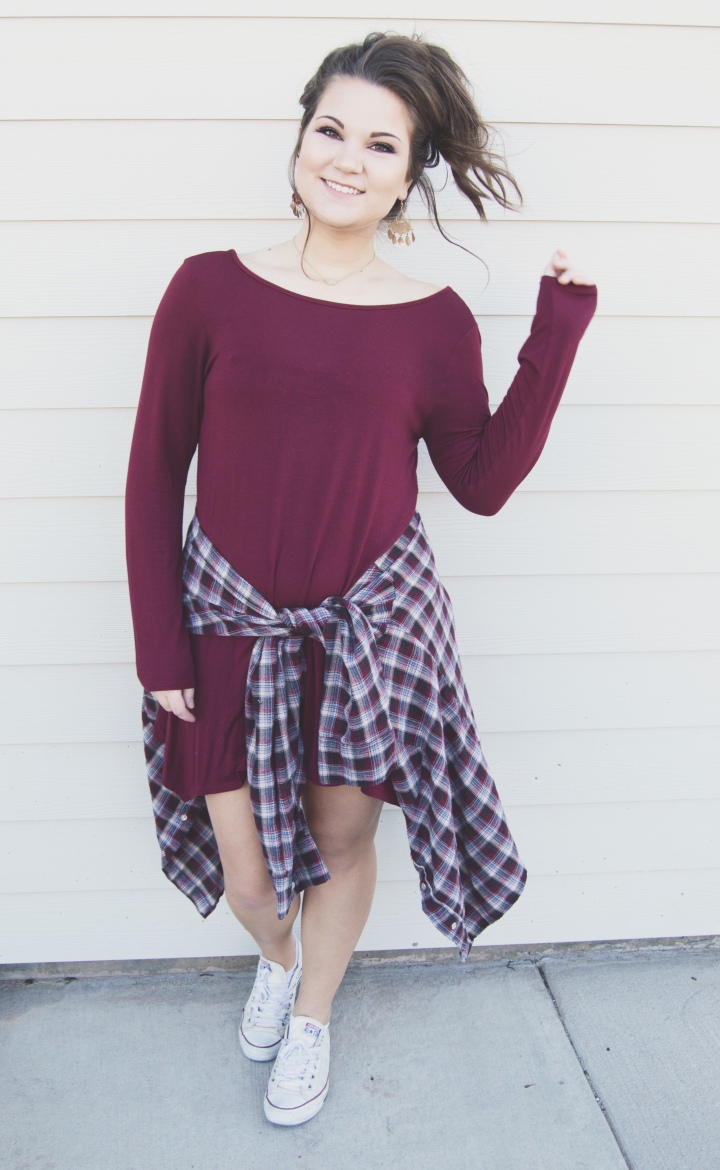 Valentine's Day Outfit Inspiration - red dress, piko dress, casual