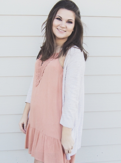 Valentine's Day Outfit Inspiration - pink dress, coral dress, simple, casual